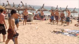 preview picture of video 'Strandspiele, Flunkyball an der Playa de Palma Mallorca (Majorca)'