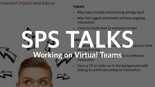 SPS Talks: Working on Virtual Teams (Full Version)