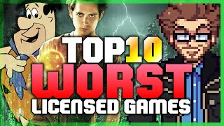 Top 10 WORST Licensed Games! - Austin Eruption