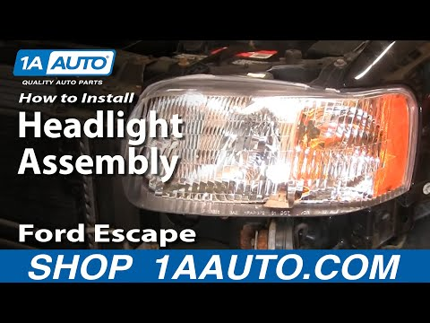 How to Replace Headlight 01-04 Ford Escape