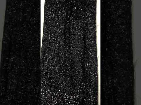 Georgette Sequence Sarees Black