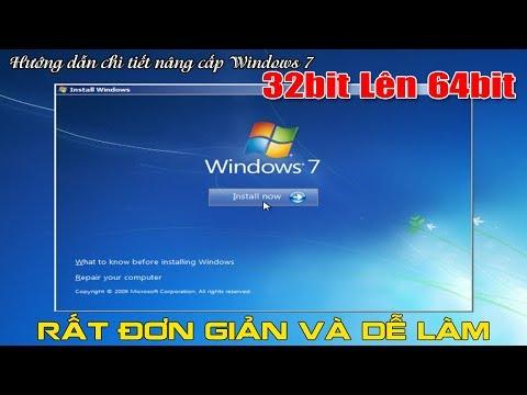 Chu Đặng Phú hướng dẫn chi tiết NÂNG CẤP WINDOWS 7 32BIT LÊN WINDOWS 7 64BIT AI CŨNG LÀM ĐƯỢC