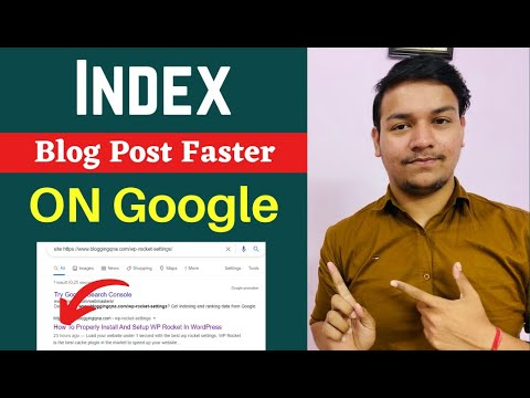 How to Instantly Index Your New Blog Post - Google index Problem Solved | Hindi