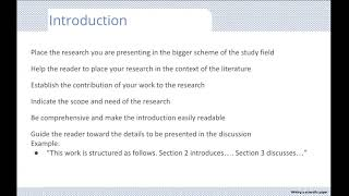 Basics for writing and submitting a scientific paper