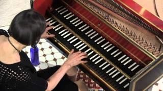 Haydn Harpsichord : Elaine Comparone plays Adagio, Sonata in E-Flat Major, # 49