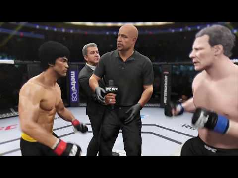 Bruce Lee vs. Hannibal Lecter (EA Sports UFC 2) - CPU vs. CPU
