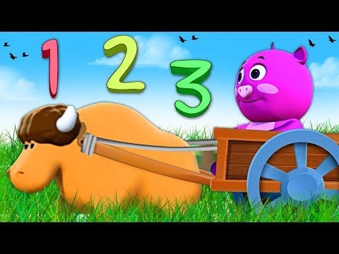 Numeri per bambini in Italiano con Pego in sella al carro trainato da buoi   Mondo Dei Bambini