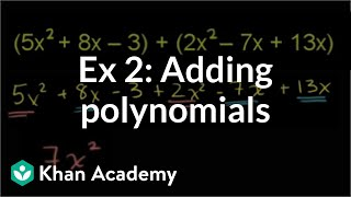 Adding and Subtracting Polynomials 1