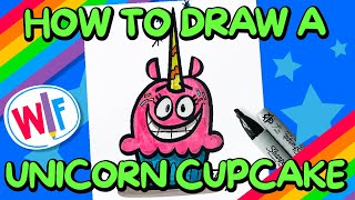 How To Draw Unicorn Cupcake!