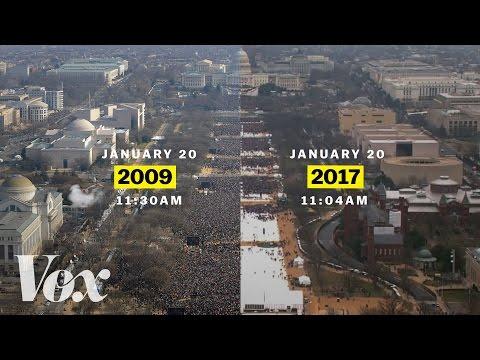 Barack Obama vs. Donald Trump: inaugural crowds