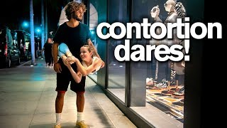 BUSTED in BEVERLY HILLS! Contortion Dares with Elliana W and friends (Dance Moms)