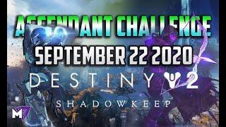 Ascendant Challenge September 22 2020 Solo Guide | Destiny 2 | Corrupted Eggs & Lore Location