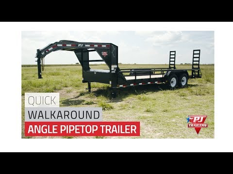 2019 PJ Trailers Angle Pipetop Trailer (P8) 24 ft. in Hillsboro, Wisconsin - Video 1
