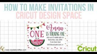 How To Make Birthday Invitations In Cricut Design Space