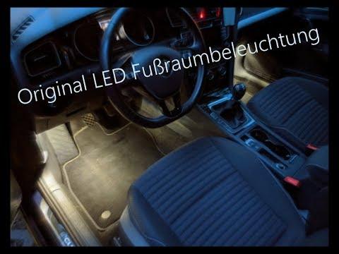 Original VW LED Fußraumbeleuchtung Nachrüsten   VW Golf 7