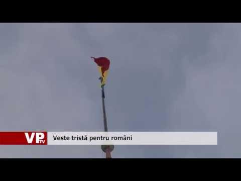 Veste tristă pentru români