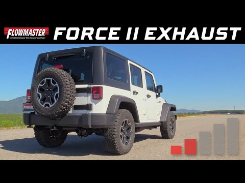 Flowmaster Force II Axle-back Exhaust for 2012-2018 Jeep Wrangler JK 3.6L #817790