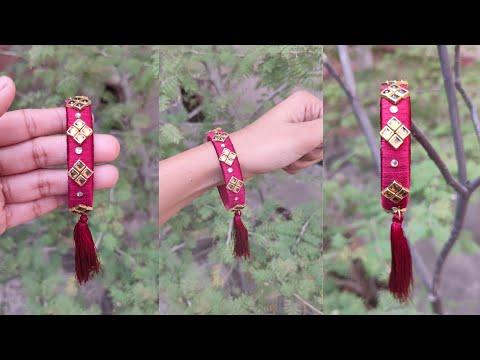 How to make silk thread bangle with tassel. Silk thread bangle tutorial. DIY easy fashion jewellery.