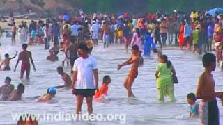 New Year eve at Kovalam beach