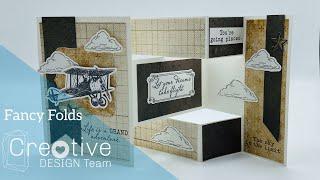 Tri-Fold Shutter Graduation Card // Creative Design Team Fancy Folds