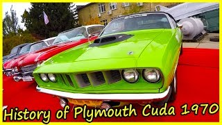 History of Plymouth Cuda 1970. Classic American Cars of the 70s.