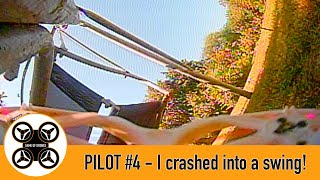 Game of Drones - Pilot #4 - Second FPV flight in the TinyHawk 2 - I hit a garden swing!