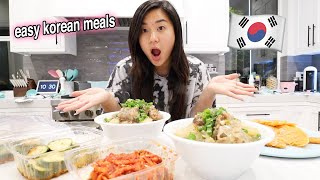 COOK WITH ME!! Easy Korean Recipes 🇰🇷