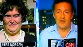 CNN  larry King Susan Boyle...sing's MY HEART WILL GO ON...from Titanic ...acapella