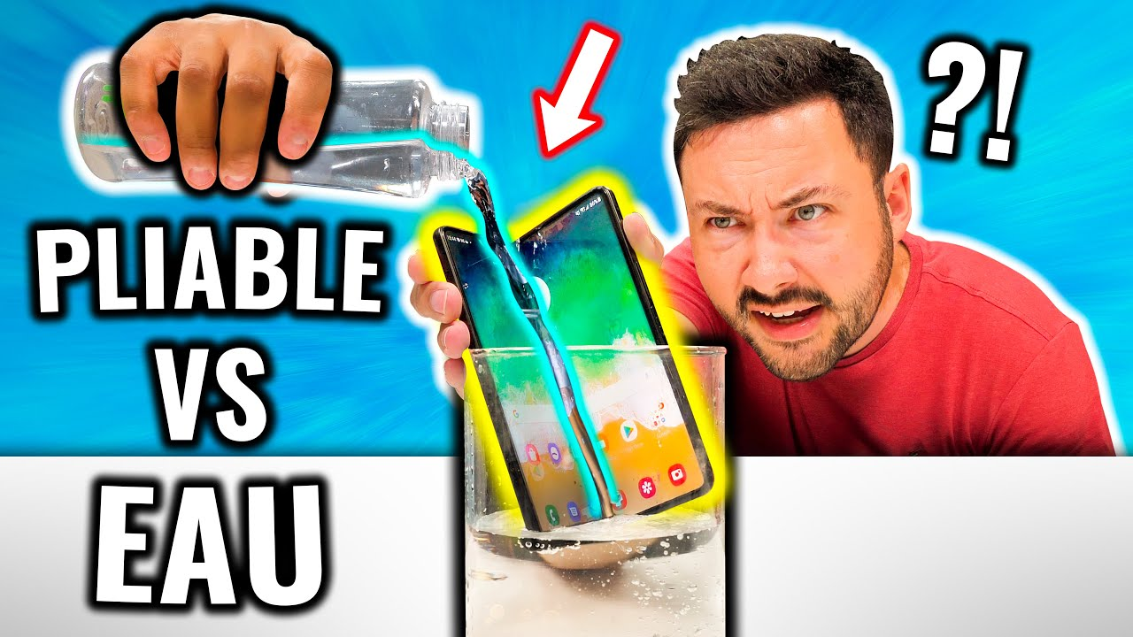 Eau VS Smartphone Pliable ! (ça tourne mal ?)