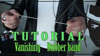Vanishing rubberband Magic trick tutorial -Julien Magic
