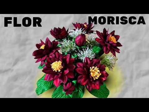 Flor Morisca na cor marsala