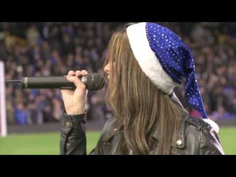"""Jennifer Jewell """"All I Want For Christmas"""" Live half time performance at Goodison Park 14-12-13"""