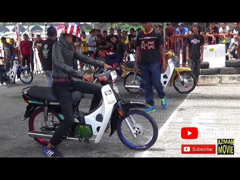 PART2/5 Honda 4t 110cc Standard Body Drag Racing Kubang Menerong Apr 2018