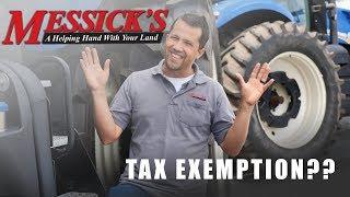 Farm Tax Exemption.. surprise, more complex than it sounds!