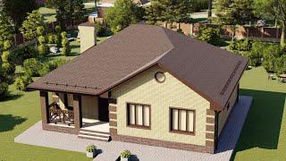 Проект дома 115-E, Площадь дома: 115 м2, Размер дома:  11,5x13,4 м