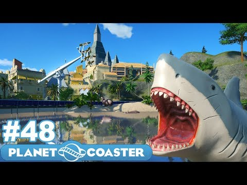 Let's Build the Ultimate Theme Park! - Planet Coaster - Part 48 (Shark Attack!!)