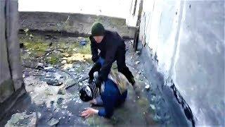 Драка с охраной Побег от полиции и охраны Прыгнул с крыши Спас друга