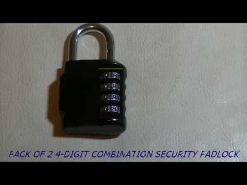 Pack of 2 4-digit Combination Security Padlock