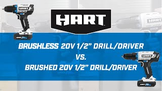 20V Brushless Drill/Driver verses Brushed Drill/Driver