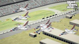 GTA 5 Air Force One & USAF Thunderbirds Flyover NASCAR Daytona 500 Race Track In Grand Theft Auto V