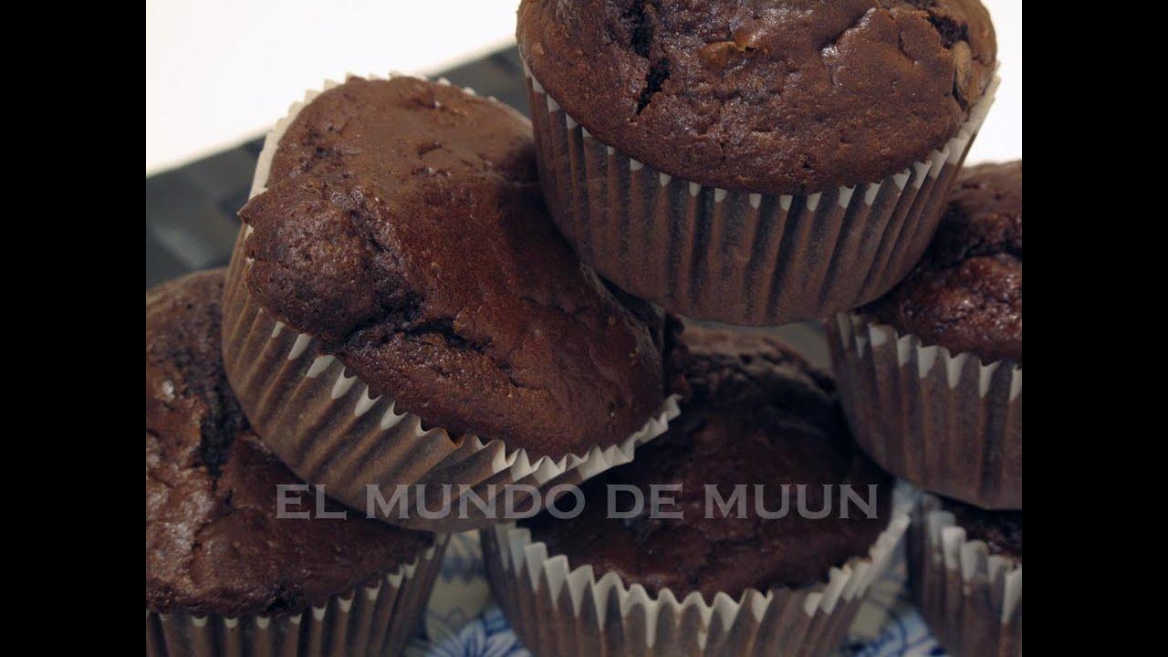 Receta facil y rapida de Muffins de Chocolate - Explosivamente buenas