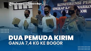 Kirimkan Ganja 7,4 Kg ke Bogor untuk Diedarkan Selama Ramadan, 2 Pemuda Pengangguran Dibekuk Polisi