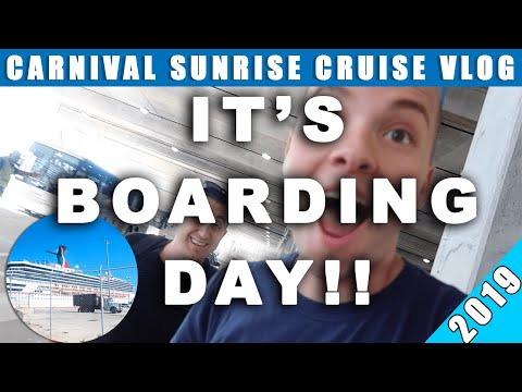 IT'S BOARDING DAY! Carnival Sunrise Cruise Vlogs 2019! | Ep. 03