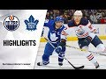 Nhl Highlights Oilers Maple Leafs 1 6 20