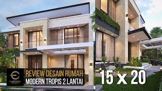 Video Desain Rumah Modern 2 Lantai Bapak Yan Yeremia di  BSD, Tangerang Selatan, Banten