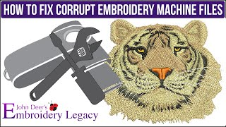How To Fix Corrupt Embroidery Design Files