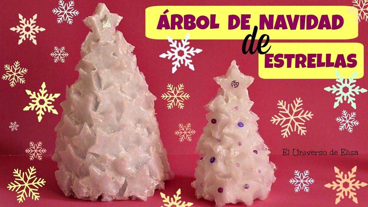 Diy, Manualidades Navideñas Fáciles, Cómo hacer un Árbol de Navidad con Estrellas, Navidad