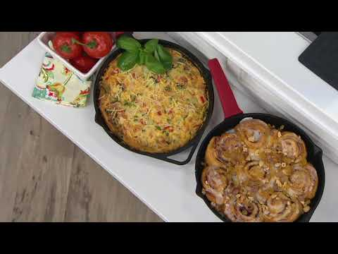 """Lodge Rust Resistant Cast Iron 11"""" Skillet w/ Accessories on QVC"""