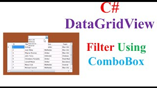 C# MysQL - Filter/Search DataGridView Database Records Using ComboBox
