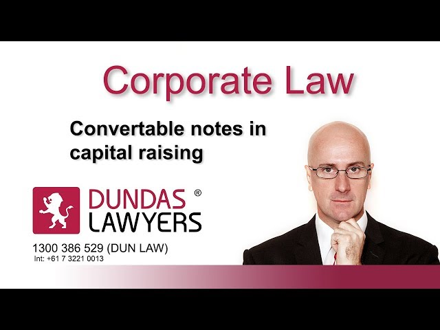 Convertible notes in capital raising